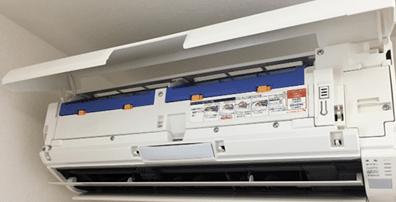 エアコンクリーニングのクリナークのお掃除機能付きエアコン